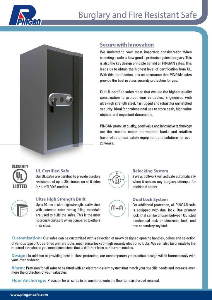 burglary and fire resistant safe-K1 confirmed